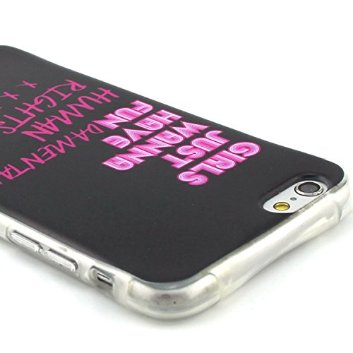 iPhone 6S Plus Hülle,iPhone 6 Plus Silikon Case - Felfy Exklusive Ultra Thin Leicht Gel TPU Silikon Weiche Hülle Gemalt Muster Design Pattern Protektiv Case Skin Back Cover Tasche Anti Finger Kratzer  Have Fun