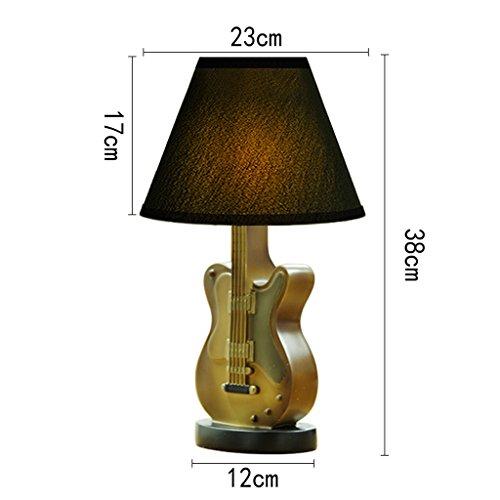 ZfgG Umweltschutz-Harz-Lampe, LED-Karikatur-Gitarren-kreative Lampe der Karikatur, Knopf-Schalter 23cm * 38cm (Farbe : Grau)