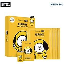BTS X MEDIHEAL BT21 - Máscara de cara + postal + marcapáginas