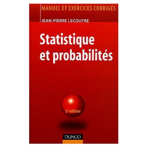 Statistique et probabilité : Manuel et exercices corrigés