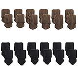 Mogoko 24 x Stuhlbeinsocke Stuhlsocken Möbel Socken Anti-Rutsch Wollsocken Hocker Tabellen Cotton Stuhlkappen Stuhl-Fußboden-Schutz Floor Protector (12 braun+12 schwarz)
