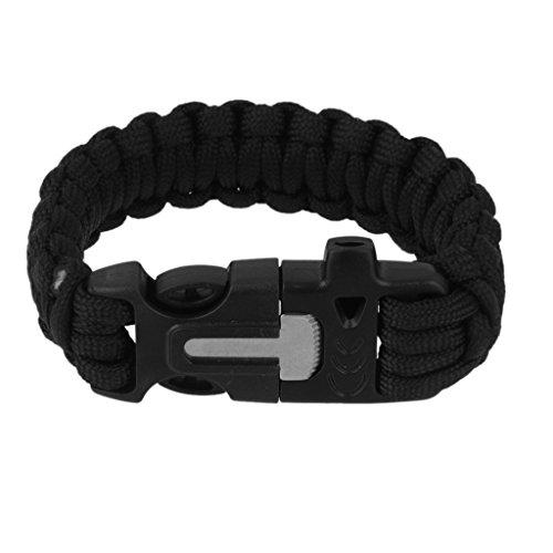 aussen-paracord-armband-feuerstein-feueranzunder-schadel-bettelarmband-pfeife-schwarz