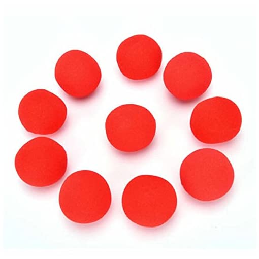 YANSHG-Finger-Magic-Props-Sponge-Ball-Street-Classical-Comedy-Trick-Soft-Red-Sponge-Ball-45CM