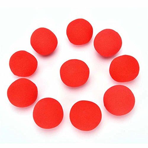YANSHG® Finger Magic Props Sponge Ball-Street Classical Comedy Trick Soft Red Sponge Ball (4.5CM) (Magic Sponge Bälle)