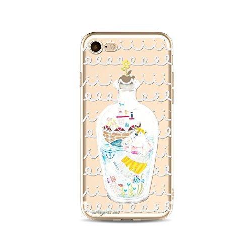 Coque iPhone 7 Housse étui-Case Transparent Liquid Crystal capture de rêve en TPU Silicone Clair,Protection Ultra Mince Premium,Coque Prime pour iPhone 7 (2016)-style 13 style 5