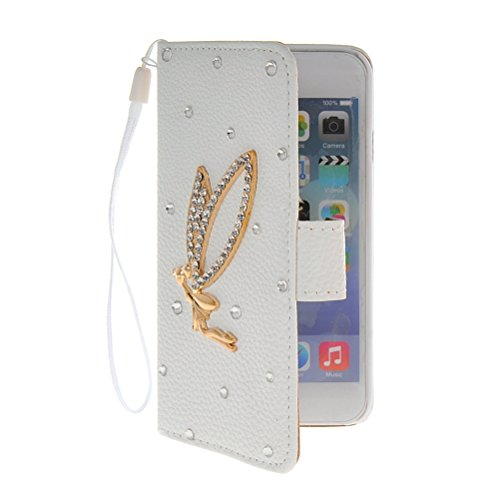 MOONCASE Bling Diamond Coque en Cuir Portefeuille Housse de Protection Étui à rabat Case pour Apple iPhone 6 ( 4.7 inch ) 05