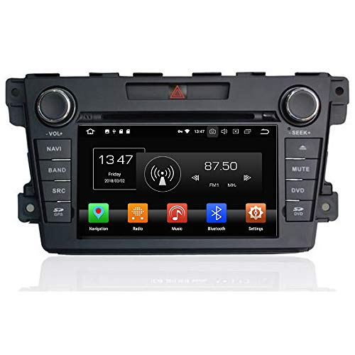 TAFFIO Mazda CX-7 Bose Sound Autoradio Touchscreen Android 8 Naviceiver CD DVD USB SD Wifi 3D GPS Navigation TV Bluetooth Freisprecheinrichtung