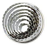 Tala Stainless Steel Crinkled Pastry Cutters