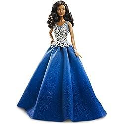 Mattel Barbie DGX99–«Holiday Barbie», con vestido azul