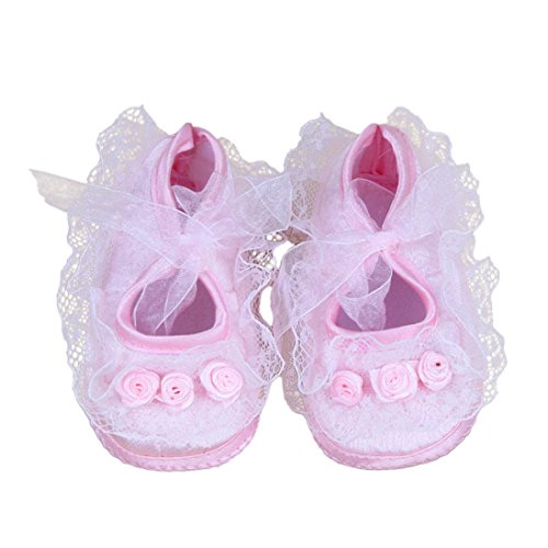 Shoes, Xinantime Rose Flowers Newborn Pre-Walker Shoes (0~3 Month/10, Pink)