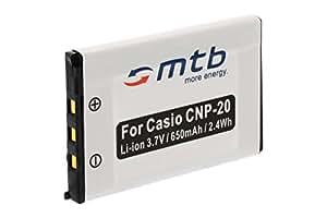 Batterie NP-20 pour Casio Exilim MP3, EX-M1, EX-M2, EX-M20, EX-S1, EX-S2