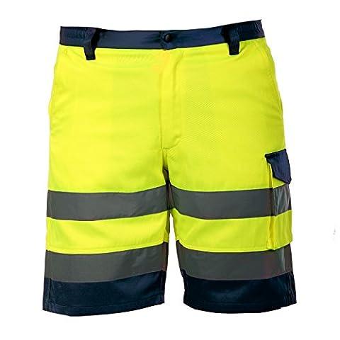 EXTREME PRO Herren Arbeitshose Shorts kurze Warnschutzhose Gelb Gr.L CE