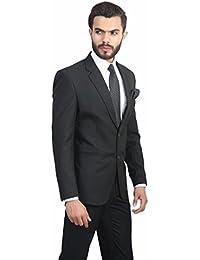 Oshano Men's Formal Black Poly Cotton Solid Slim Fit 1 Blazer,Blazer for Men Stylish, Blazer for Men, Blazers for Men Slim fit, Blazers for Mens, Men Blazers.
