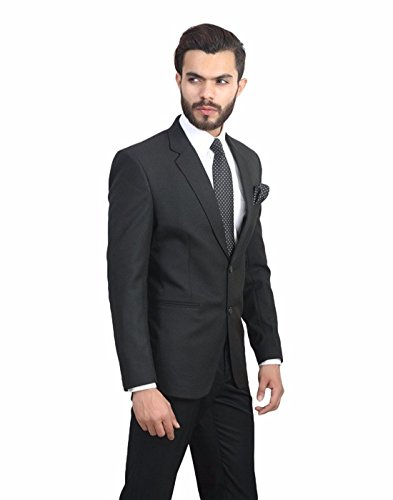 Oshano Men's Formal Black Poly Cotton Solid Slim Fit 1 Blazer  available at amazon for Rs.1490