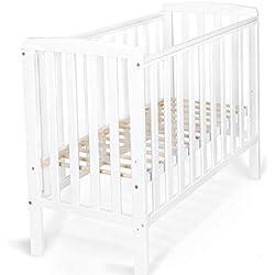 Lit Elephant, lit, bébé, style scandinave, moderne, lit en bois, 100x50cm (couleur: blanc)