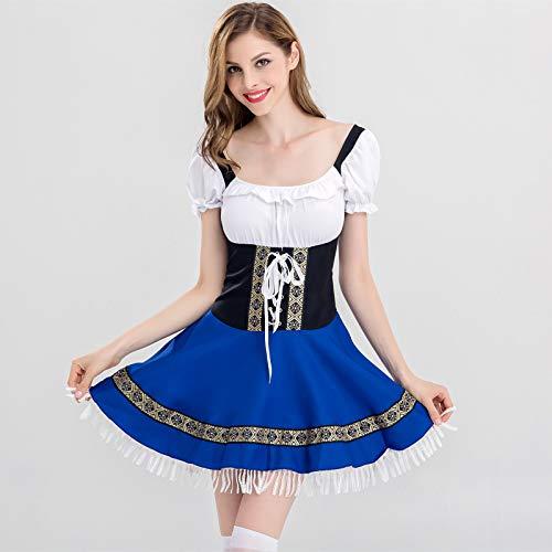 Halloween Kostüm,Halloween Magd Kostüm München Deutschland weiblich Bier Service Barkeeper Kleidung Bar Nacht, 2837, S