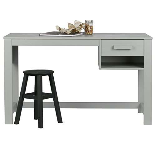 Alfred & Compagnie Bureau 125x75 1 tiroir Aaron Gris béton