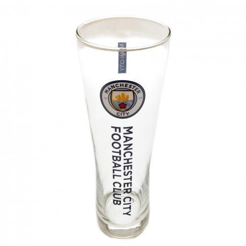Club Bier (Manchester City FC Football Club hoch Bier Glas Geschenk Geburtstag Küche)