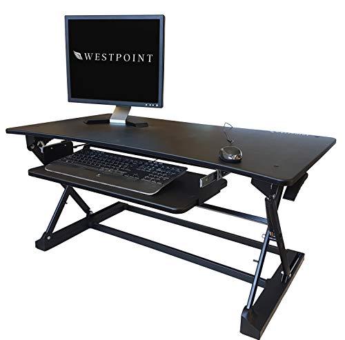 Westpoint Stehtisch-Konverter - ergonomischer Sitzständer und Schreibtisch mit 8 Höheneinstellungen und Tastaturablage - kompatibel mit PC und Laptop - 3 Small (81 X 52cm) (Tastaturablage Schreibtisch Mit)