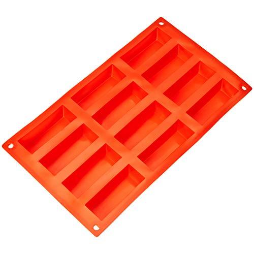 AmazonBasics - Molde silicona bizcochos rectangulares