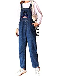 2472b3cca8b9 AngelSpace Womens Casual Leisure Jeans Vogue Loose Overalls Bib Playsuit
