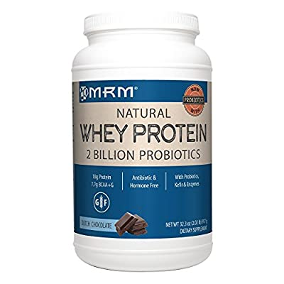 MRM - All Natural Whey Protein Powder, with Essential Amino Acids, BCAAs & Glutamine for Maximum Muscle Growth & Development (Dutch Chocolate, 2lb) from MRM
