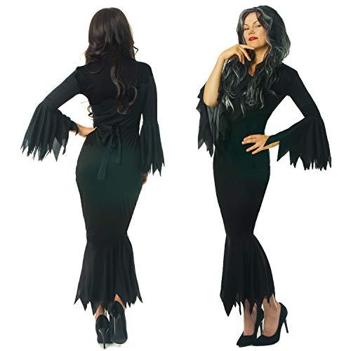 Kostüm Addams Große Morticia - sowest Scary Wife Black
