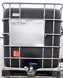 1000 Liter IBC Tank (11) SCHWARZ, KOMPLETT NEU – Kunsttstoffpalette & Gitterbox neu # Tank neu