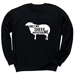 HippoWarehouse Only my sheep understand me unisex jumper sweatshirt pullover