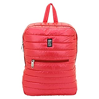 F|23 F23 Quilted Rucksack 46 x 43 x 32 cm 18 Litres with Adjustable Length Shoulder Strap Susa Rain Auer, Unisex, red