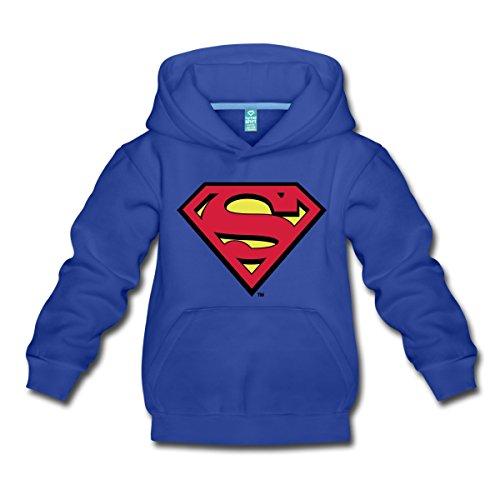 s Superman Logo Original Kinder Premium Hoodie, 122/128 (7-8 Jahre), Royalblau (Dc Comics Für Kinder)