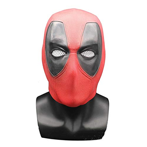 hcoser Halloween Deadpool Maske Latex Kopf Gesicht Helm Movie DP Cosplay Kostüm für Erwachsene Kostüm (Deadpool Maske Aus)