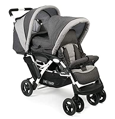CHIC 4 BABY 274 63 Duo - Carrito para hermanos, color gris
