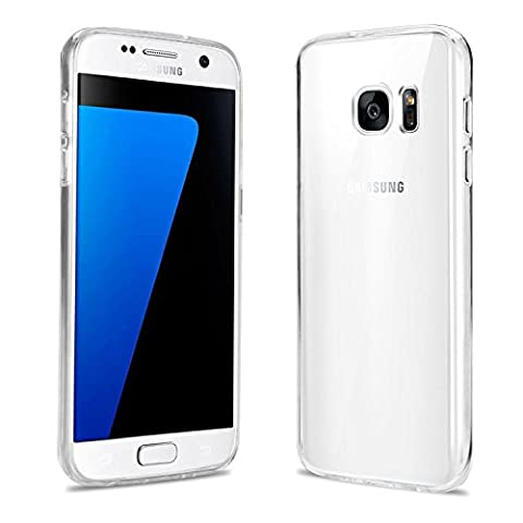 iDefend Samsung Galaxy S7 Case Soft Clear TPU Silicone Gel Cover [Includes A Screen Protector]