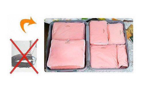 Bag in Bag Shop Story - Juego de 5 bolsas organizadoras de equipaje, color rojo