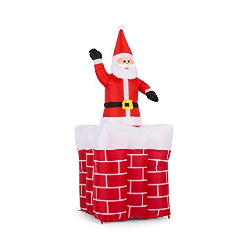 prise • Weihnachtsdekoration • Gartendekoration • LED Beleuchtung • Schornstein • Weihnachtsmann • aufblasbar • 180 cm hoch • witterungsbeständig • bunt ()