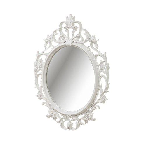 Espejo Cornucopia de plástico Blanco clásico para salón DE 53 x 38 cm France - LOLAhome