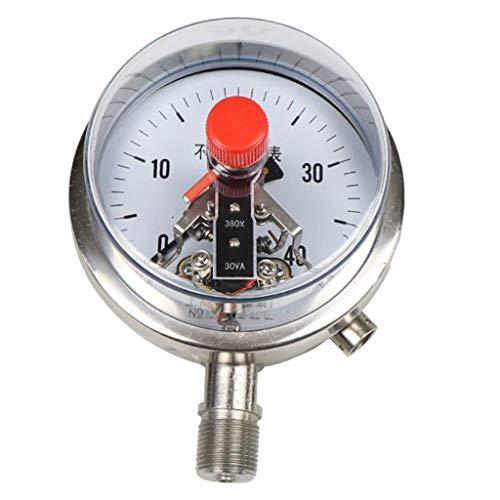 SM SunniMix Manometer Druckmesser Druckluftmanometer Glycerinmanometer mit 0-40MPa Messbereich für Zuhause Fabrik und Schule - 0-4 Mpa