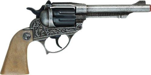 Villa Giocattoli 1592 - Pistola Giocattolo in Metallo a 8 Colpi 125 dB, Alabama Old Metal