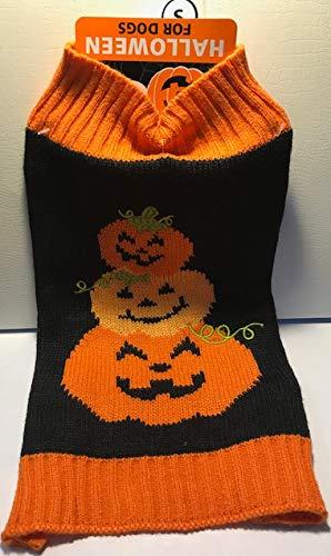 SimplyWag Halloween-Pullover, Jack-O-Lantern-Design für Kleine Hunde