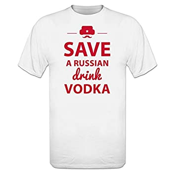 Tee shirt Save A Russian Drink Vodka by Shirtcity