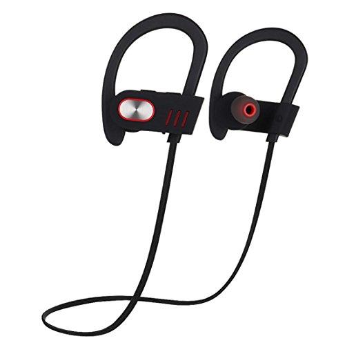 Joyeer Bluetooth Ohr Haken Kopfhörer mit Mic Profi Sport Musik Headset Wireless Schweißsichere Geräusche Abbrechen Kopfhörer für Smartphones , grey
