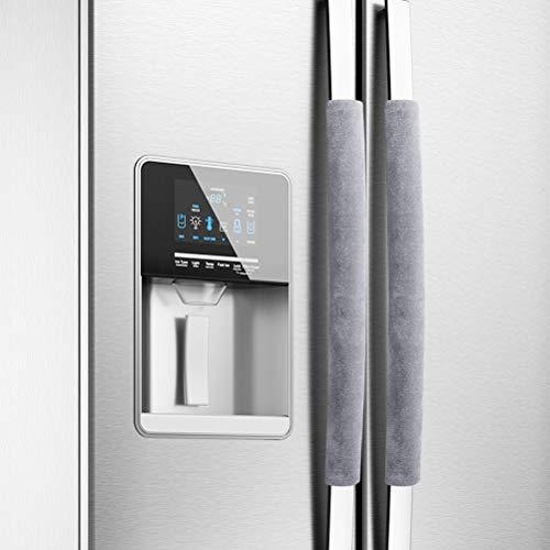 Jourbon Kühlschranktürgriffe 1 Paar Kühlschrank Tür Griff Abdeckung für Küche Handschuhe Halten Sie Ihr Küchengerät sauber von Schmutz, Lebensmittelflecken