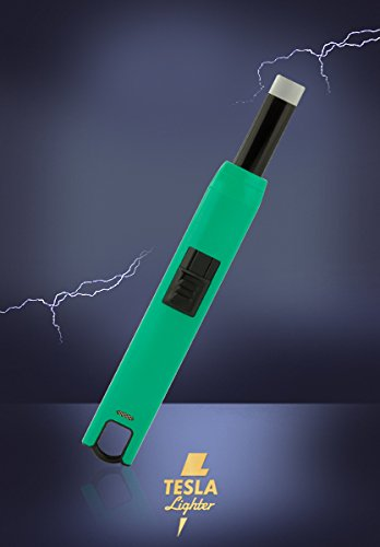 Tesla-Lighter T07 Lichtbogen Feuerzeug USB Feuerzeug Grillfeuerzeug Stabfeuerzeug BBQ wiederaufladbar Grün -