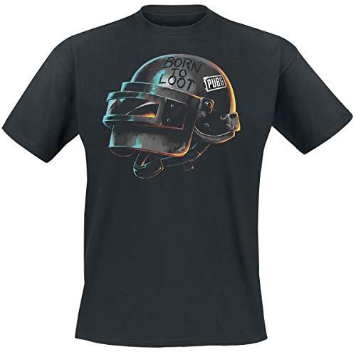 Playerunknown's Battlegrounds PUBG - Born To Loot - Helmet Camiseta Negro L