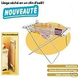 FISHTEC ® Wäscheständer, Elektrisch, 8 Stangen, 95 X 63 X 74 cm, Gebürstetes Aluminium - 3