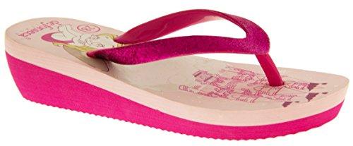 De Fonseca Eté Tongs Sandales Chaussures de Plage Filles Sangles De Paillettes Rose