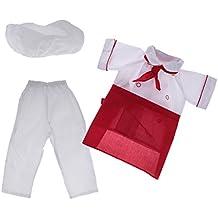 MagiDeal Costume Cuoco Bambino Junior MasterChef Vestito Cappello Grembiule  Sciarpa S M L XL Cosplay Costumi di Carnevale 9ac2269d7a9b