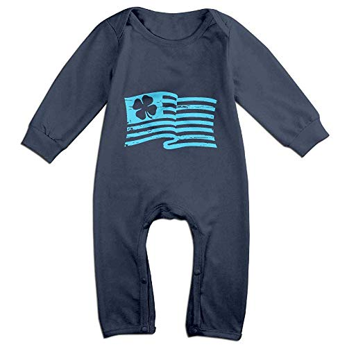 ZhuHanug Irish American Flag ST. Patrick's Day Baby Boy Girl Long-Sleeved Printed Jumpsuits Playsuit Outfits