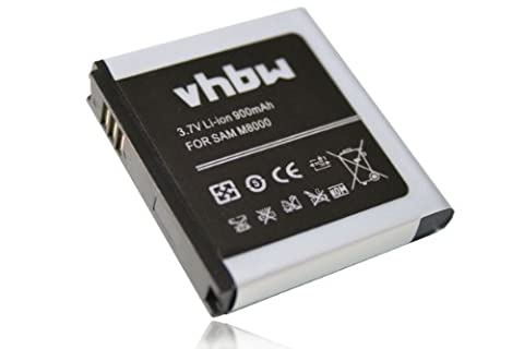 vhbw Li-Ion Akku 900mAh (3.7V) für Handy, Smartphone, Telefon Samsung Jet M8000, S7550 Blue Earth, S8000 wie EB664239HUCSTD, EB664239XZ, EB664239HA.